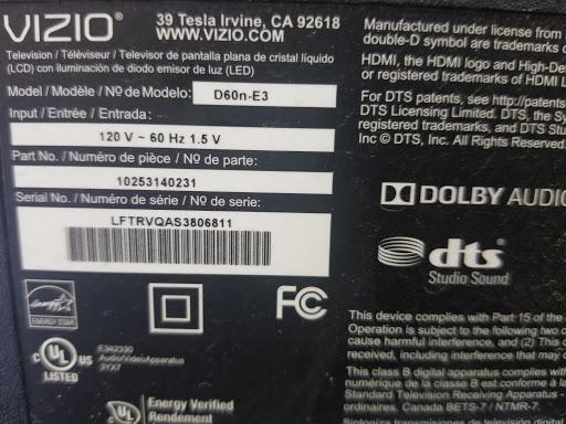 TV Repair Vizio D60n-E3